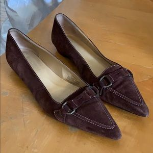 🔆 J. Crew brown leather flats size 9
